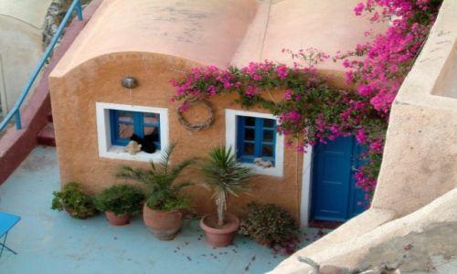 Zdjęcie GRECJA / Santorini / Oia / chatka