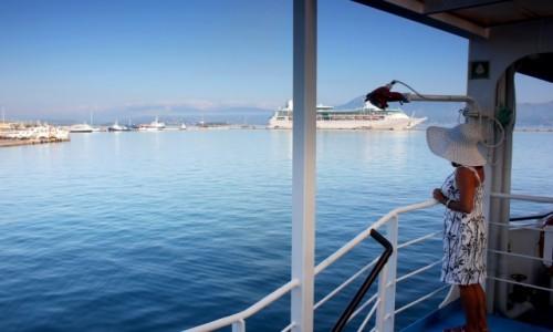 Zdjecie GRECJA / Wyspy Jońskie / Korfu / prom z Korfu