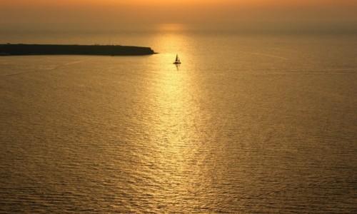 Zdjecie GRECJA / Cyklady / Santorini / morze złota