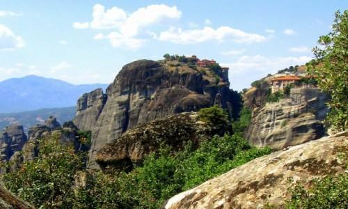 Zdjęcie GRECJA / Tesalia / Kalampaka/Kalambaka / Dwa klasztory
