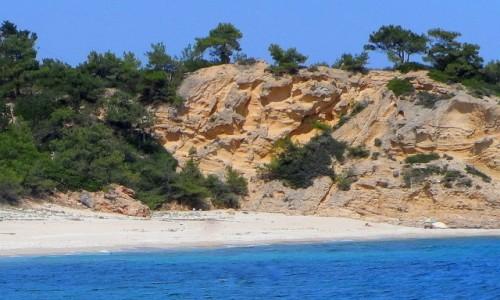 Zdjecie GRECJA / Thassos / okolice Limenarii / Wysoki brzeg
