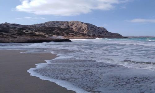 Zdjecie GRECJA / Karpathos / Arkasa / Rozhuśtane morze