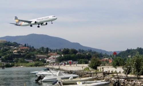 GRECJA / Wyspy Jońskie / Korfu / Lądowanie na Korfu.