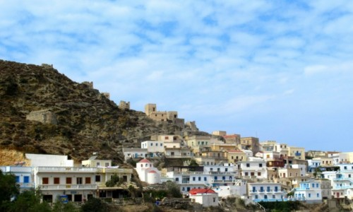 Zdjecie GRECJA / Karpathos / Olympos / Miasteczko w górach