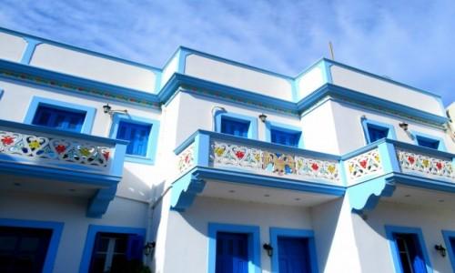 Zdjecie GRECJA / Karpathos / Olympos / W kolorze blue