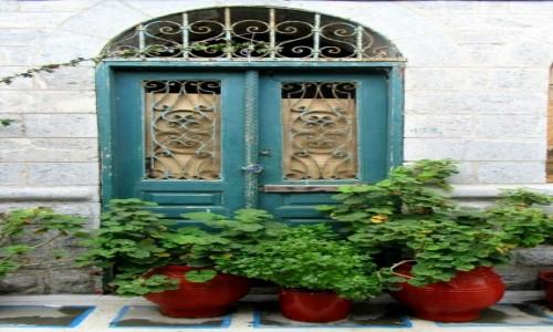 GRECJA / Karpathos / Olympos / Zielone drzwi