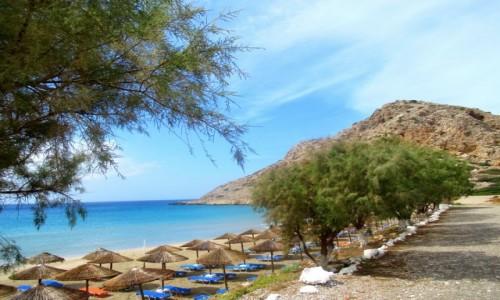 GRECJA / Karpathos / Arkasa / Pusta plaża...