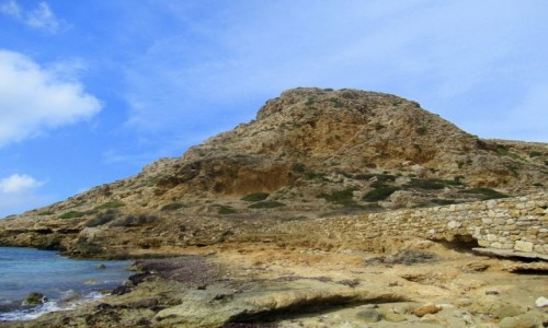 Zdjecie GRECJA / Karpathos / Arkasa / Mury góry i chmury