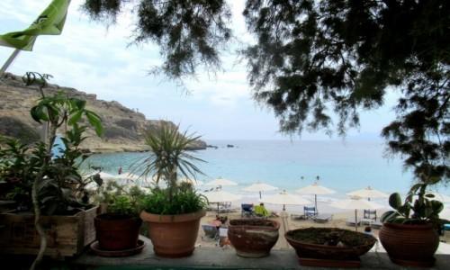 Zdjecie GRECJA / Karpathos / Lefkos / Plaża w Lefkos