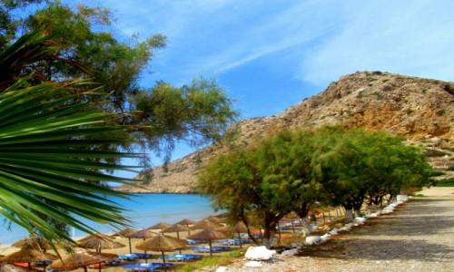 Zdjecie GRECJA / Karpathos / Arkasa / Październikowa plaża