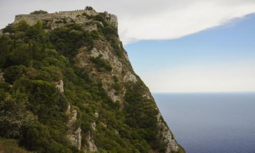 Zdjecie GRECJA / Wyspy Jońskie - Korfu / ruiny bizantyjsko-weneckiej twierdzy niedaleko Makrades / TWIERDZA ANGELOKASTRO