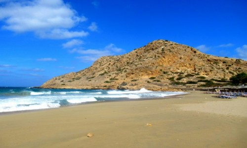 Zdjecie GRECJA / Karpathos / Arkasa / Plaża, pusta plaża..