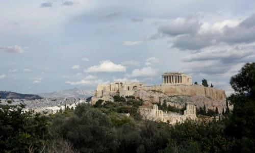 Zdjecie GRECJA / - / Ateny / Widok na Akropol ze Wzgórza Filopapposa