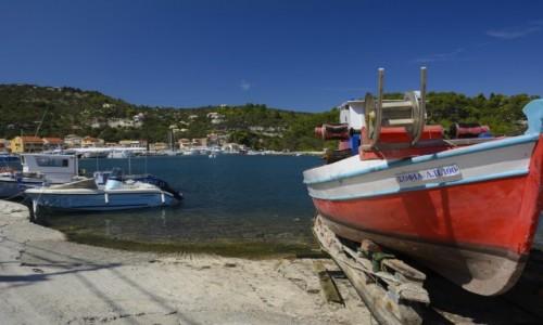 Zdjecie GRECJA / Wyspy Jońskie  / Paxos / port w Gaios