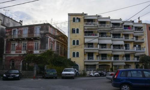 Zdjecie GRECJA / Wyspy Jońskie - Korfu / stolica wyspy (Kerkyra) / brzydsze oblicze Korfu