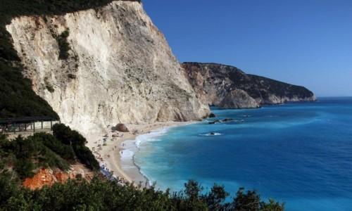 Zdjecie GRECJA / Lefkada / Lefkada / na plażowo