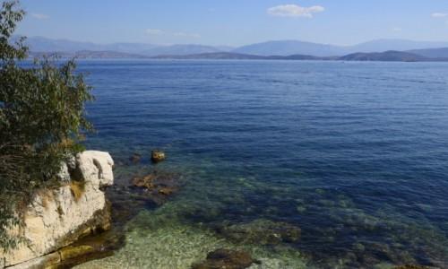 Zdjecie GRECJA / Wyspy Jońskie - Korfu / Kassiopi / widok z Kassiopi na wybrzeże Albanii