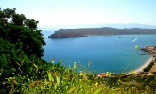 Zdjecie GRECJA / Kreta Wschodnia / okolice Plaka / Widok na Spinalongę