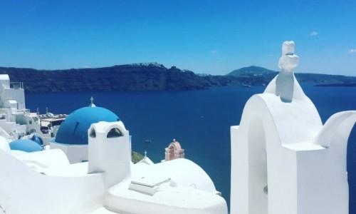 Zdjecie GRECJA / Santorini / Oia  / Białe domki i lazur