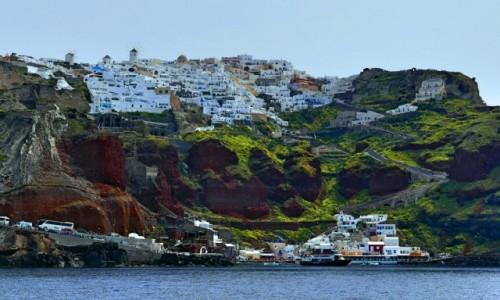 Zdjecie GRECJA / Cyklady / Santorini / Oia z właściwej strony