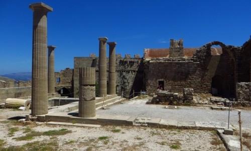 Zdjęcie GRECJA / Archipelag Dodekanez / Wyspa Rodos - Lindos / akropol