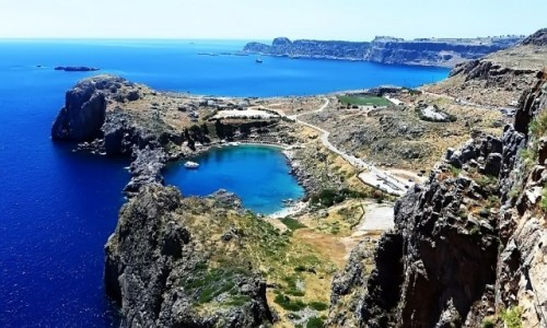 Zdjęcie GRECJA / Archipelag Dodekanez / Wyspa Rodos - Lindos / widok z akropolu