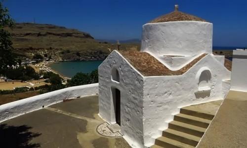 Zdjęcie GRECJA / Archipelag Dodekanez / Wyspa Rodos - Lindos / cerkiew św. Jerzego