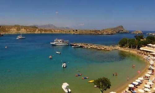 Zdjęcie GRECJA / Archipelag Dodekanez / Wyspa Rodos - Lindos / port w Lindos
