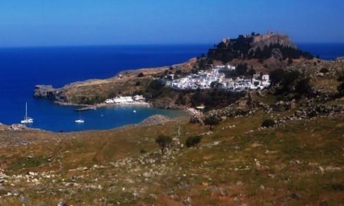 Zdjecie GRECJA / Archipelag Dodekanez / Wyspa Rodos - Lindos / panorama Lindos