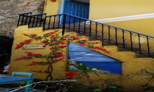 Zdjecie GRECJA / Archipelag Dodekanez / Wyspa Simi - Gialos / uliczki Gialos