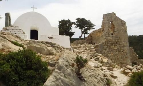 Zdjecie GRECJA / Archipelag Dodekanez / Wyspa Rodos / Monolithos kaplica św. Pantelejmona i św, Jerzego