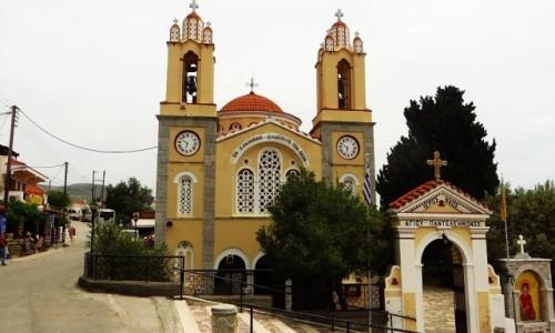 Zdjecie GRECJA / Archipelag Dodekanez / Wyspa Rodos - Siana / kościół