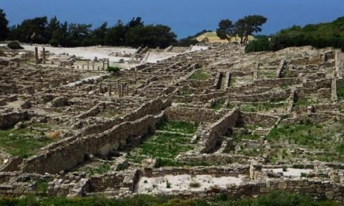 Zdjecie GRECJA / Archipelag Dodekanez / Wyspa Rodos - Siana / starożytne ruiny Kamiros