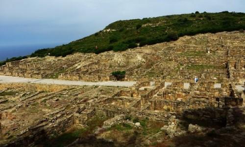 GRECJA / Archipelag Dodekanez / Wyspa Rodos / starożytne ruiny Kamiros