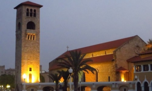 Zdjecie GRECJA / Archipelag Dodekanez / Wyspa Rodos - Rodos / katedra