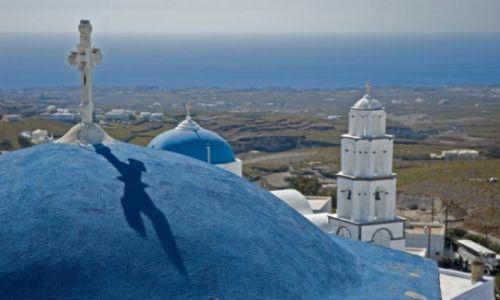 Zdjecie GRECJA / wyspy greckie / Santorini / pewnego słonecznego dnia na pięknej wyspie