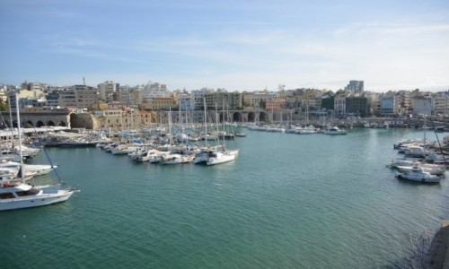 Zdjecie GRECJA / KRETA  / HERAKLION / Piękny port Heraklion