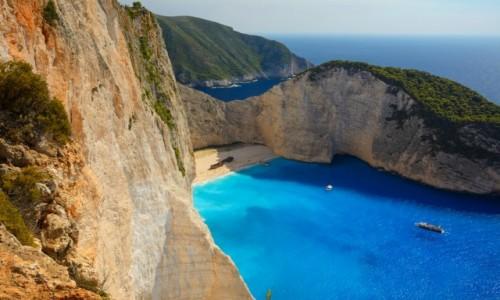GRECJA / Wyspy Jońskie / Zakynthos / Navagio Beach