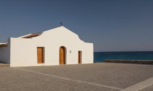 Zdjecie GRECJA / Wyspy Jońskie / Zakynthos - St. Nicholas Beach (Agios Nikolaos) / kościółek Agios Nikolaos