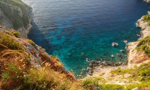 Zdjecie GRECJA / Wyspy Jońskie / Zakynthos  / zatoka SCHIZA