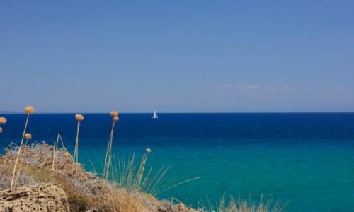GRECJA / Wyspy Jońskie / Zakynthos - Półwysep Vassilikos / kolory Morza Jońskiego