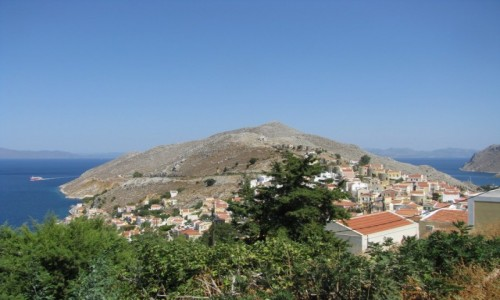Zdjecie GRECJA / SIMI / SIMI / Simi - widok ze wzgórza zamkowego