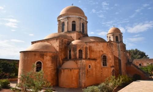 GRECJA / Kreta / półwysep Akrotiri / Klasztor Świętej Trójcy od braci Giancarolo