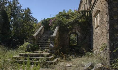 Zdjecie GRECJA / Wyspy Jońskie / Corfu, Dassia / ruiny Castello Mimpeli