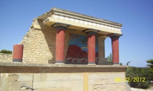 GRECJA / Kreta / Knossos / Knossos-ruiny pałacu