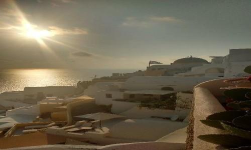 Zdjecie GRECJA / Grecja / Thira / Zachód słońca Oia