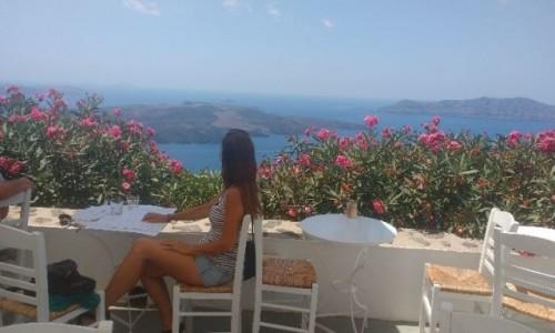 Zdjecie GRECJA / Santorini / Thira / Widok na Calderę