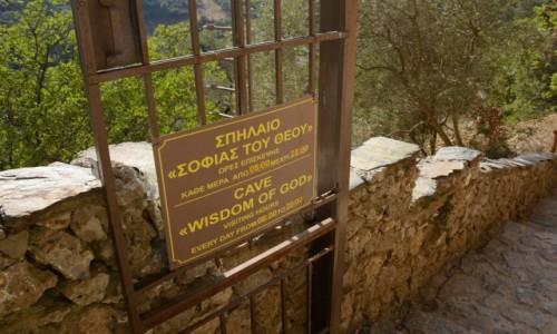 Zdjecie GRECJA / Kreta / koło miejscowości Topolia / Agia Sofia cave (Wisdom of God)