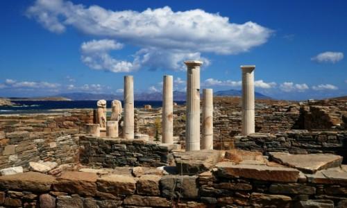 Zdjecie GRECJA / Cyklady  / Wyspa Delos / Ruiny starożytnego Delos - lista UNESCO