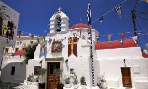 Zdjecie GRECJA / Cyklady / Mykonos / Urok greckich kościołów - Agia Kyriaki
